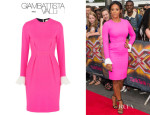 Melanie Brown's Roksanda Ilincic 'Izumi' Colour-Block Dress