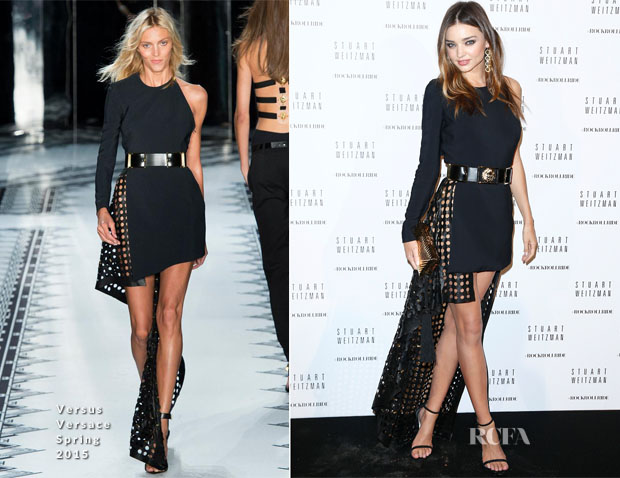 Miranda Kerr In Versus Versace - Stuart Weitzman Cocktail Party