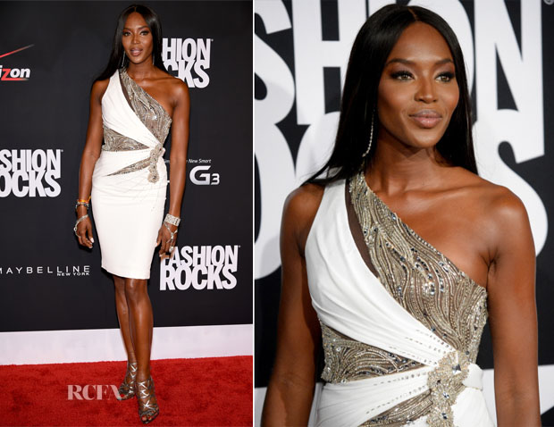 Naomi Campbell In Versace - Fashion Rocks 2014