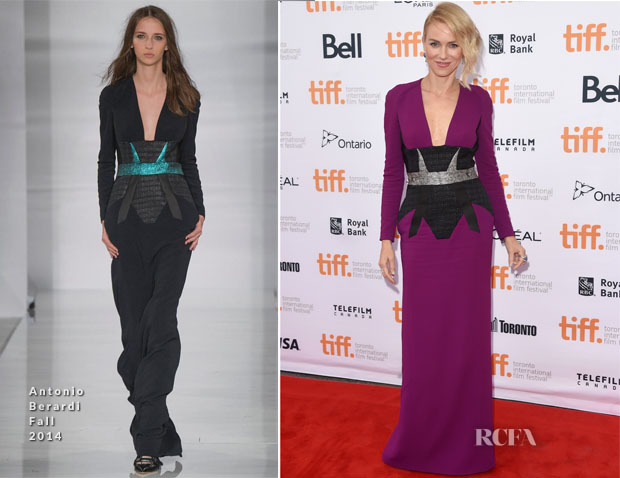 Naomi Watts In Antonio Berardi - 'While We're Young' Toronto Film Festival Premiere