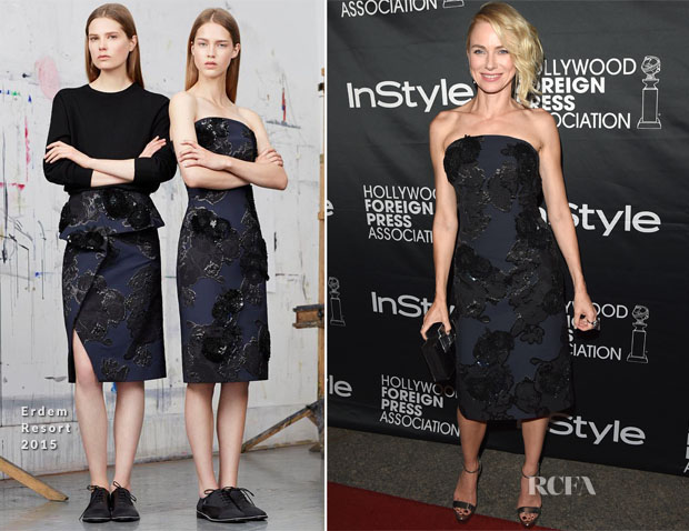 Naomi Watts In Erdem - HFPA & InStyle's 2014 TIFF Celebration