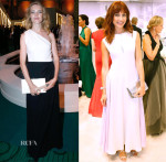 Natalia Vodianova & Olga Kurylenko In Christian Dior -  Biennale des Antiquaires Pre Opening