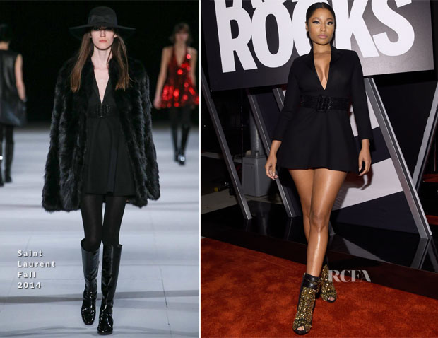 Nicki Minaj In Saint Laurent Fall 2014 Fashion Rocks