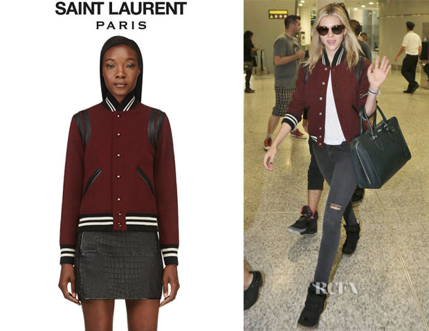 Nicola Peltz' Saint Laurent 'Teddy' Bomber Jacket