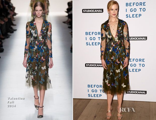 Nicole Kidman In Valentino - 'Before I Go To Sleep' London Gala Screening