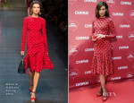 Nieves Alvarez In Dolce & Gabbana - 'Campari Afterwork' Event