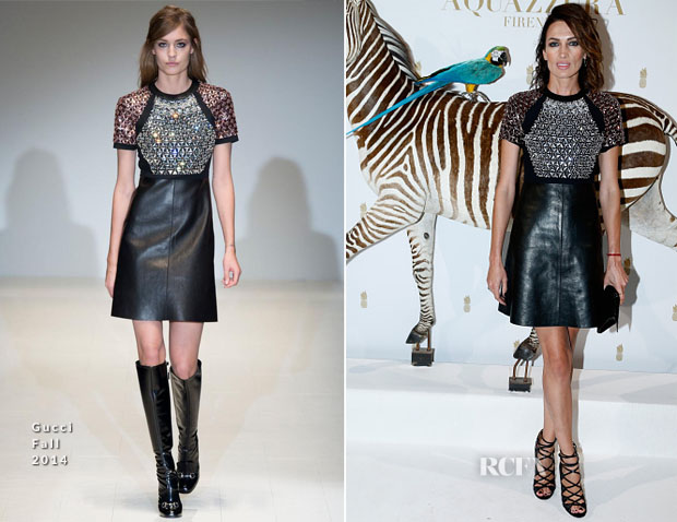 Nieves Alvarez In Gucci - Aquazzura Private Dinner