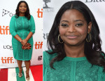 Octavia Spencer In Tadashi Shoji - 'Black And White'  Toronto Film Festival Premiere
