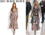 Olivia Palermo's Burberry Prorsum Printed Silk Dress