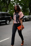 Osman Top,  Antonio Berardi Trousers,  Zara Shoes and Zara Clutch