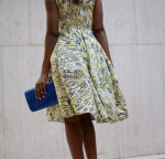 Antonio Berardi dress, Nicholas Kirkwood slingbacks, Vintage Clutch and Vintage jewels
