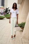 Zara Top, Antonio Berardi Trousers, Roland Mouret Chaumont Bag, Vintage Necklace and Office Shoes