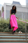 Zara Top, Osman Skirt,  Topshop Leather Croc-Effect Embossed Pouch - Topshop US and Topshop UK and Nicholas Kirkwood Booties