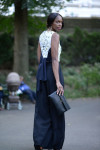 Osman Top, Antonio Berardi Trousers, Marni Clutch and River Island Sandals