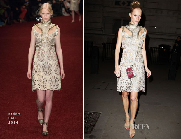 Poppy Delevingne In Erdem - Downing Street London Fashion Week Reception