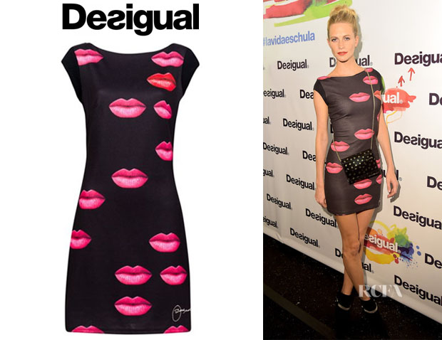 Poppy Delevingne's Desigual 'Marina' Knitted Dress