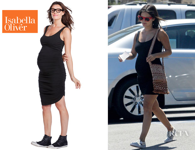 Rachel Bilson's Isabella Oliver Ruched Tank Maternity Dress