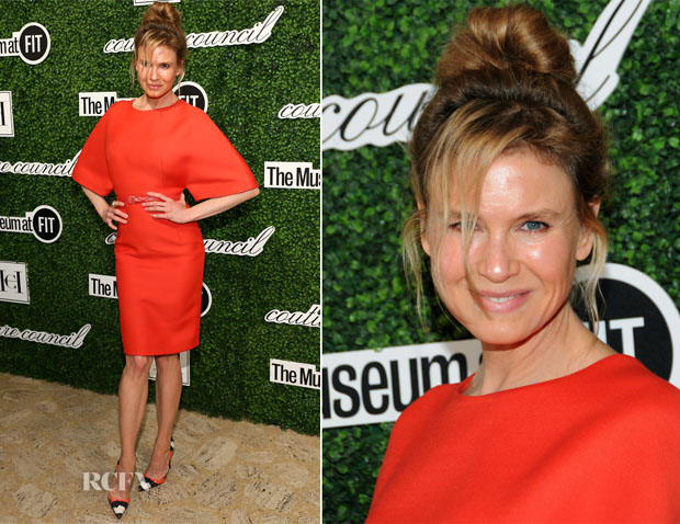 Renee Zellweger In Carolina Herrera - 2014 Couture Council Award Luncheon