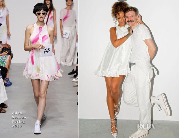 Rihanna In Adam Selman - Adam Selman Spring 2015