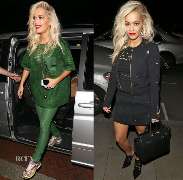 Rita Ora In Acne Studios & Roberto Cavalli - Out In Manchester