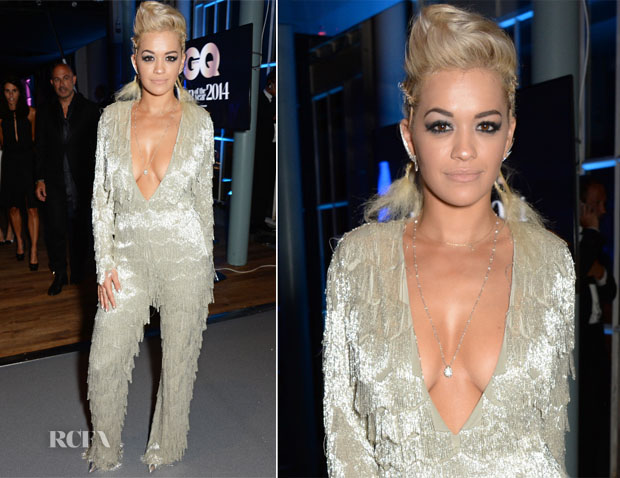 Rita Ora In Nicholas Oakwell Couture - GQ Men Of The Year After-Party