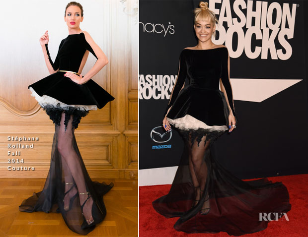 Rita Ora In Stéphane Rolland Couture - Fashion Rocks 2014