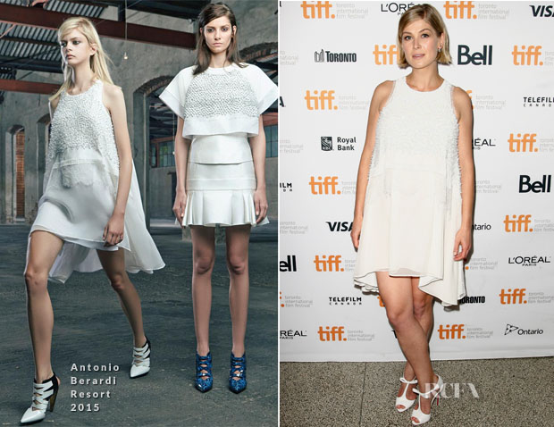 Rosamund Pike In Antonio Berardi - 'Hector And The Search For Happiness' Toronto Film Festival Premiere