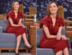 Rose Byrne In Jenny Packham - The Tonight Show Starring Jimmy Fallon