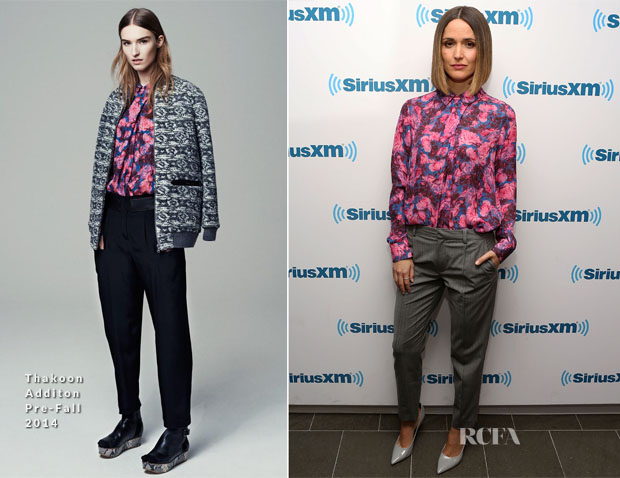 Rose Byrne In Thakoon Addition & Thakoon - SiriusXM Studios