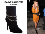 Rosie Huntington-Whiteley's Saint Laurent Chain-Strap 'Debbie' Ankle Boots