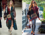 Sarah Jessica Parker In Burberry Prorsum - Out In New York City