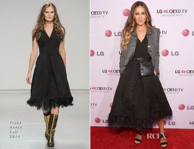 Sarah Jessica Parker In Tracy Reese & Saint Laurent - 2014 Art Of The Pixel Gala