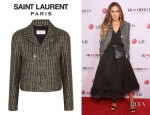 Sarah Jessica Parker's Saint Laurent Sequin Tweed Jacket