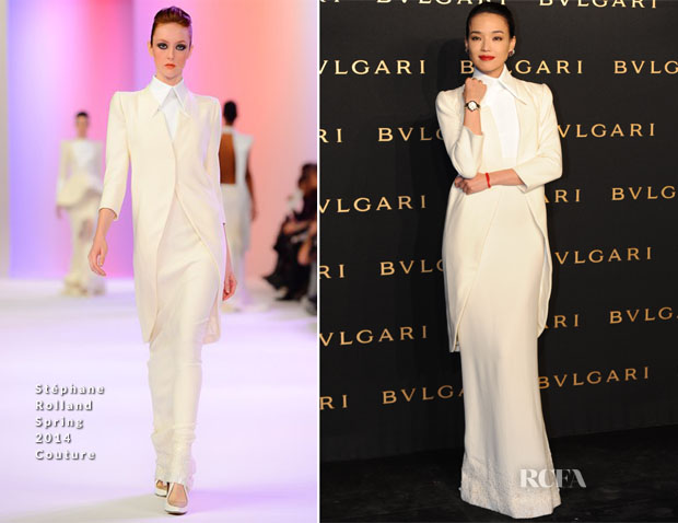 Shu Qi In Stéphane Rolland Couture - Bulgari 'LVCEA' Launch Event