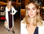 Suki Waterhouse In Burberry - Vogue's Fashion Nights Out