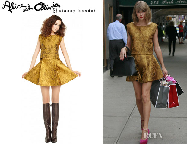 Taylor Swift's Alice + Olivia 'Cerra' Crop Top And Alice + Olivia 'Vernon' Miniskirt