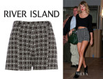 Taylor Swift's River Island Check Smart Shorts