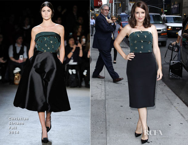 Tina Fey In Christian Siriano - Late Show with David Letterman