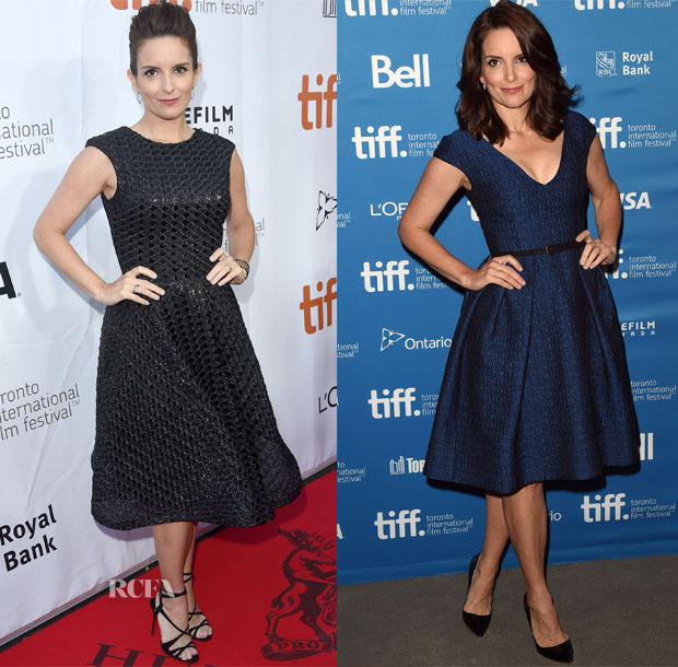 Tina Fey In Christian Siriano & Temperley London -  'This Is Where I Leave You' Toronto Film Festival Premiere & Press Conference