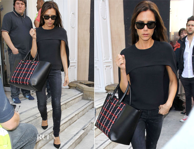 Victoria Beckham In Balenciaga - Out In London