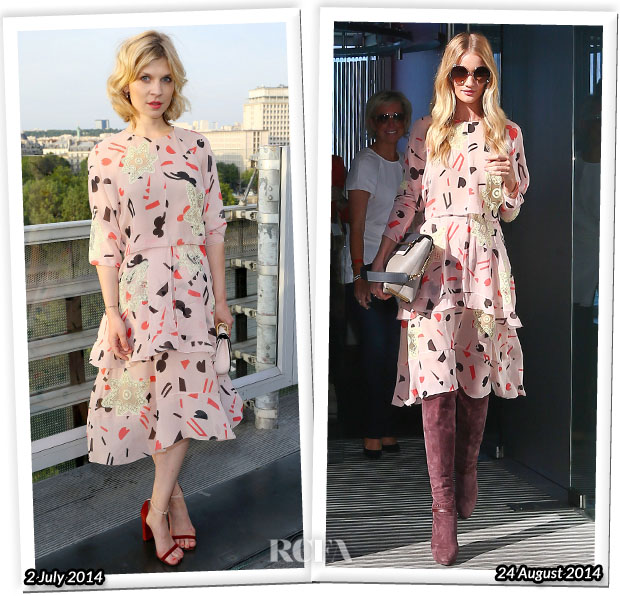 Who Wore Chloe Better Clémence Poésy or Rosie Huntington-Whiteley