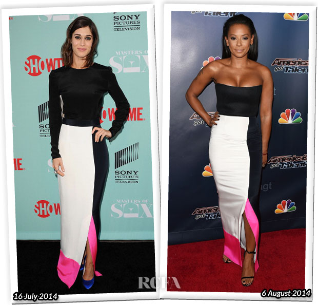 Who Wore Roksanda Better Lizzy Caplan or Mel B