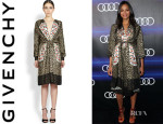Zoe Saldana's Givenchy Silk Leopard And Butterfly Dress
