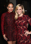 Jennifer Lopez in Valentino and Reese Witherspoon in Dolce & Gabbana