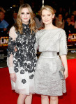 Laura Carmichael in Erdem and Mia Wasikowska in Chanel Couture