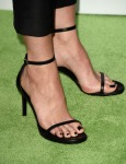 Stana Katic's Saint Laurent sandals