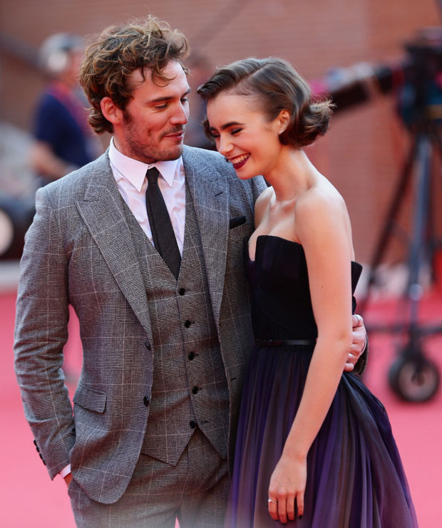 Sam Claflin and Lily Collins - 'Love, Rosie' Rome Film ...