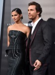Camila Alves in Rubin Singer and Matthew McConaughey in Dolce & Gabbana