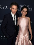 Eddie Redmayne in Alexander McQueen and Felicity Jones in Dior