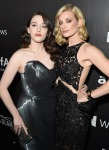 Kat Dennings in Rubin Singer and Beth Behrs in Patricia Bonaldi